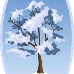 Winter landscape. Vector illustration. — Stock Vector