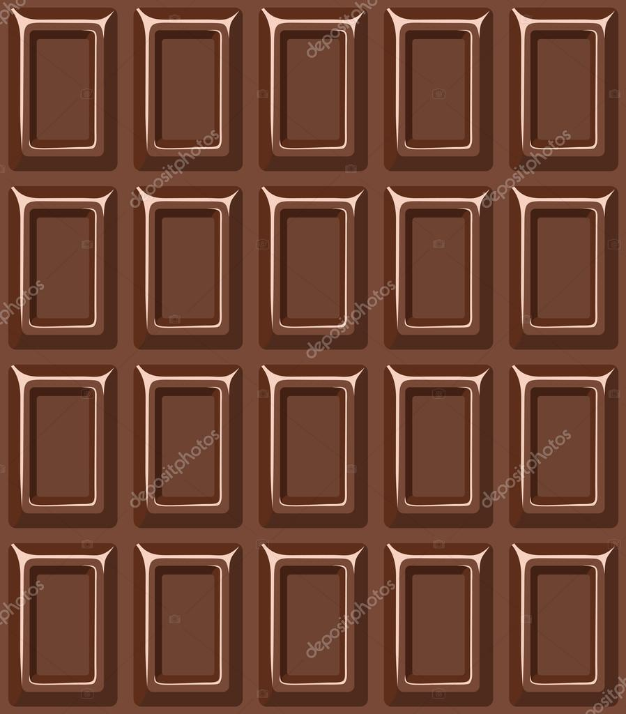Vector seamless texture with milk chocolate bar.  — Stock Vector #14885725