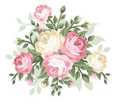 Vector illustration of vintage roses. — Stock Vector