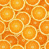 Fondo transparente con rodajas de naranja. ilustración vectorial. — Vector de stock