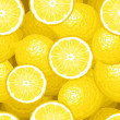 Seamless background with lemons. Vector illustration. - Stock Vector