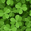 St. Patrick's day vector seamless background with shamrock. — Stock Vector