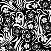 Seamless floral pattern. Vector illustration. — Stock Vector