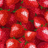 Seamless background with strawberries. Vector illustration. — Stock Vector