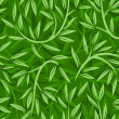 Seamless pattern with willow leaves. Vector illustration. - Stock Vector