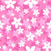 Vector seamless pattern with white and pink flowers. — Stock Vector