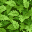 Seamless background with green leaves. Vector illustration. - Vettoriali Stock