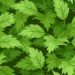 Seamless background with green leaves. Vector illustration. - Imagen vectorial