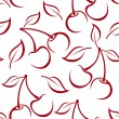 Seamless background with cherry silhouettes. Vector illustration. — Stock Vector