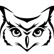 Head of horned owl. Vector illustration. — Image vectorielle