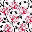 Seamless pattern with roses. Vector illustration. — Stock Vector