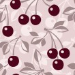 Seamless pattern with cherry. Vector illustration. — Stock Vector #23567595