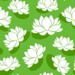 Seamless pattern with lotus flowers. Vector illustration. — Stock Vector
