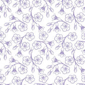 Seamless pattern with flowers. Vector illustration. — Stock Vector