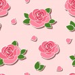 Seamless background with roses. Vector illustration. — Stock Vector