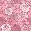 Seamless pattern with roses. Vector illustration. - Stock Vector