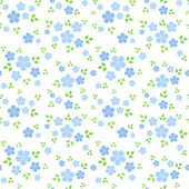 Seamless pattern with small blue flowers. Vector illustration. — Stock Vector