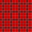 Red tartan. Vector seamless pattern. — Stock Vector