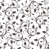 Seamless pattern with rose buds. Vector illustration. — Stock Vector
