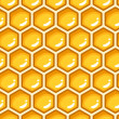 Seamless pattern with honeycombs. Vector illustration. — Stock Vector
