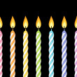 Colorful birthday candles. Vector illustration. — Vettoriale Stock  #26411393
