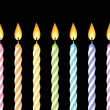 Colorful birthday candles. Vector illustration. — Vecteur #26411393