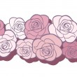 Vector de stock : Horizontal seamless background with roses. Vector illustration.