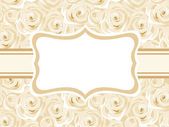 Vector card with white roses. — Stock Vector