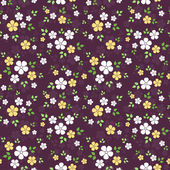Seamless pattern with small flowers. Vector illustration. — Stock Vector
