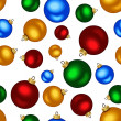 Seamless background with colorful Christmas balls. Vector illustration. — Stock Vector