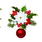 Christmas decoration elements Vector illustration. — Stock Vector