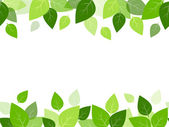 Horizontal seamless background with green leaves. Vector EPS-10. — Stock Vector