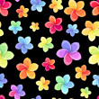 Seamless pattern with colorful flowers. Vector illustration. — Stock vektor
