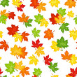 Seamless pattern with autumn maple leaves. Vector illustration. — Stock Vector #29967069