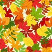 Seamless pattern with colorful autumn leaves. Vector illustration. — Stock Vector