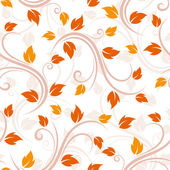 Seamless beige pattern with autumn leaves. Vector illustration. — Stock Vector