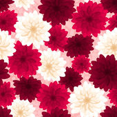 Seamless background with colorful dahlia flowers. Vector illustration. — Stock Vector