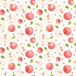 Seamless background with pink apples. Vector illustration. — Stock Vector