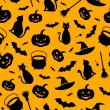 Halloween seamless background. Vector illustration. — Stok Vektör