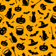 Halloween seamless background. Vector illustration. — ストックベクタ