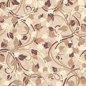 Bezešvé vzor s podzimním listím. vektorové ilustrace. — Stock vektor