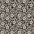 Seamless vintage floral pattern. Vector illustration. — Stock Vector