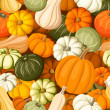 Pumpkins. Vector seamless background. — Stock Vector