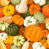 Pumpkins. Vector seamless background. — Stock Vector