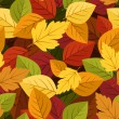 Seamless background with colorful autumn leaves. Vector illustration. — Stock Vector