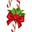 Christmas candy cane. Vector illustration. — Stock Vector #35196619