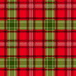 Christmas tartan. Vector seamless pattern. — Vettoriale Stock