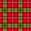 Christmas tartan. Vector seamless pattern. — Vector de stock