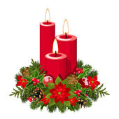 Christmas candles. Vector illustration. — Stock Vector