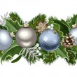 Christmas horizontal seamless garland. Vector illustration. — Stock Vector